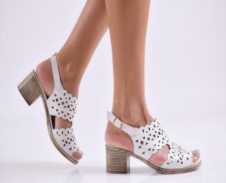 Дамски елегантни сандали еко кожа бели TWKK-27816