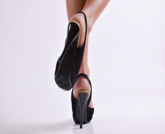 Дамски елегантни сандали еко велур BUZV-13281
