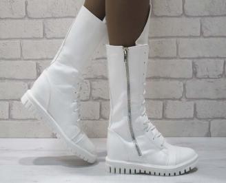 Дамски ежедневни боти бели от еко кожа XDZW-25067