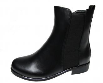 Дамски ежедневни боти  черни  от еко кожа SZHF-22065