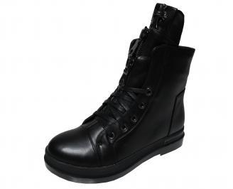 Дамски ежедневни боти черни  еко кожа NNYZ-22204