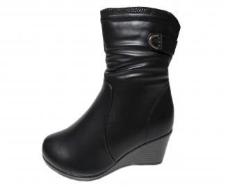 Дамски ежедневни  боти  черни от еко кожа MIYX-22751