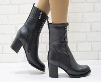 Дамски ежедневни боти  черни  от еко кожа CTIQ-24924
