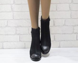 Дамски ежедневни боти  черни  от еко кожа SMNQ-24932