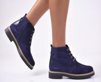 Дамски ежедневни боти естествен набук сини NYMU-1014330