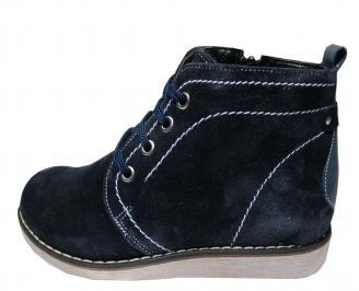 Дамски ежедневни боти естествен велур тъмно сини UJNQ-20320