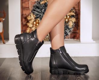 Дамски ежедневни боти еко кожа черни YXBS-22709