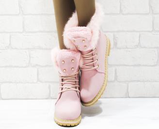 Дамски ежедневни боти розови еко кожа ZVWA-25353