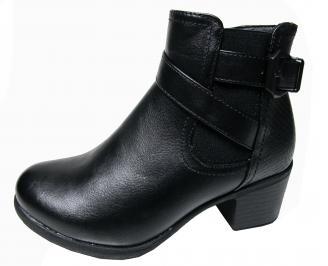Дамски ежедневни боти в  черен цвят от еко кожа MGZG-22560