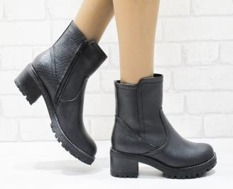 Дамски ежедневни боти в  черен цвят от еко кожа VKWT-22563