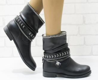 Дамски ежедневни боти в черен цвят от еко кожа ZBRJ-22566