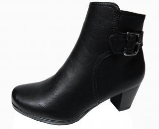 Дамски ежедневни боти в черен цвят от еко кожа AUYT-22570