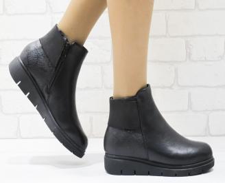 Дамски ежедневни боти в  черен цвят от еко кожа PUNL-22572
