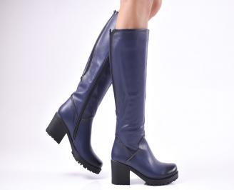 Дамски ежедневни ботуши сини от еко кожа CLDJ-1010204