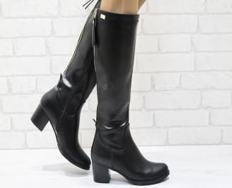 Дамски ежедневни ботуши еко кожа черни RTNA-21948