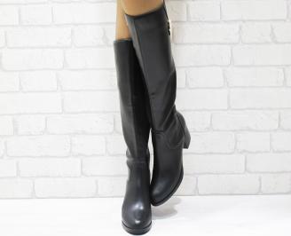 Дамски ежедневни ботуши еко кожа черни YCXP-21951