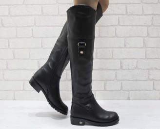 Дамски ежедневни ботуши еко кожа черни SHSS-22117