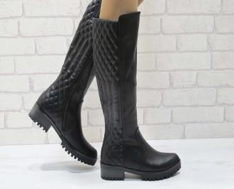 Дамски ежедневни ботуши черни от еко кожа HRSC-22215