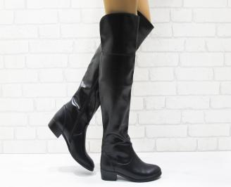 Дамски ежедневни ботуши черни от еко кожа CMJE-22229