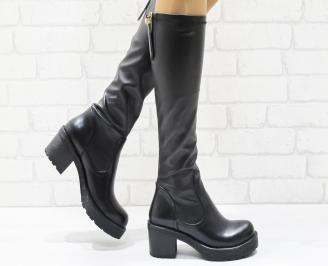 Дамски ежедневни ботуши черни от еко кожа BWLK-22231