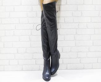 Дамски ежедневни ботуши  сини тип чизма еко кожа DOLM-22453