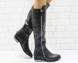 Дамски ежедневни ботуши еко кожа черни YFDM-22470