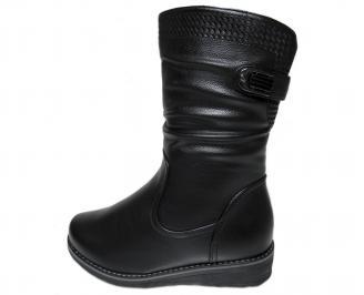 Дамски ежедневни ботуши ГИГАНТ черни от еко кожа WIVR-22590