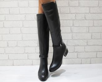 Дамски ежедневни ботуши еко кожа черни PGLQ-24836