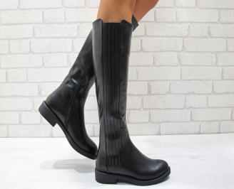 Дамски ежедневни ботуши еко кожа черни XAZO-24855