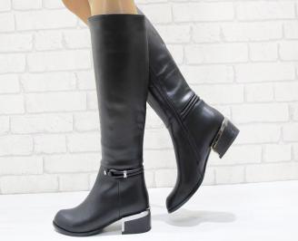 Дамски ежедневни ботуши еко кожа черни TPKT-24899