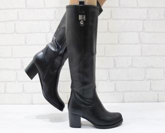 Дамски ежедневни ботуши еко кожа черни DOTS-24900