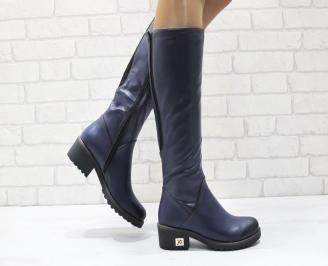 Дамски ежедневни ботуши еко кожа тъмно сини UCSL-24908