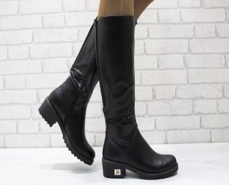 Дамски ежедневни ботуши еко кожа черни RWMA-24909