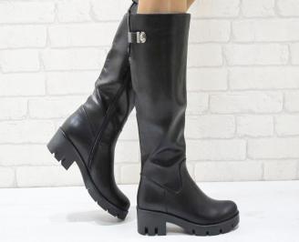Дамски ежедневни ботуши черни от еко кожа WVLS-24970