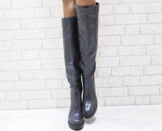 Дамски ежедневни ботуши тъмно сини еко кожа ZMIW-24979