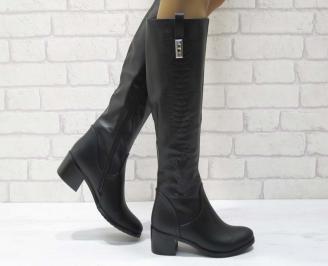 Дамски ежедневни ботуши черни от еко кожа GKRW-25064
