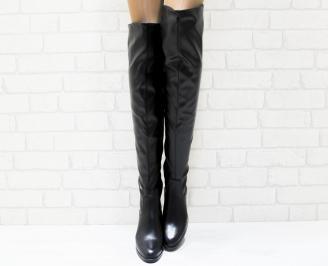 Дамски ежедневни ботуши черни от еко кожа ICZR-25221