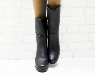 Дамски ежедневни ботуши черни еко кожа BKLB-25367