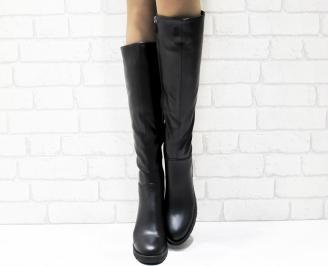Дамски ежедневни ботуши черни от еко кожа RMDV-25441