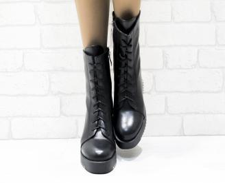 Дамски ежедневни ботуши черни еко кожа TACX-25457