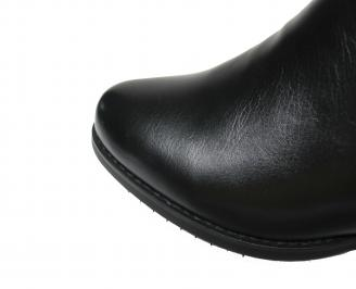 Дамски ежедневни ботуши черни еко кожа BKXU-19773