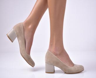 Дамски ежедневни обувки еко велур бежови HBNO-1013600