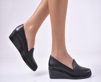Дамски ежедневни обувки естествена кожа черни GFNL-1013750