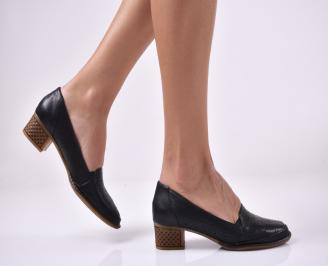 Дамски ежедневни обувки естествена кожа черни KXIC-1013990