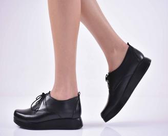 Дамски ежедневни обувки естествена кожа черни  BMPC-1014848