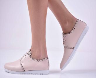 Дамски ежедневни обувки естествена кожа пудра  YDYF-1015041