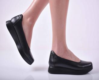 Дамски ежедневни обувки естествена кожа черни  RIFS-1015047