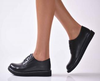 Дамски ежедневни обувки естествена кожа черни  ZXPU-1016033