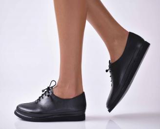 Дамски ежедневни обувки естествена кожа черни  RAQE-1016036