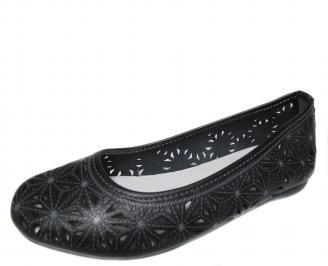 Дамски ежедневни обувки естествена кожа  черни PEHD-20931